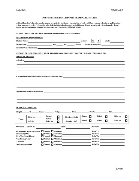 File:Jcps School Physical Form.Pdf - Uofl General Peds