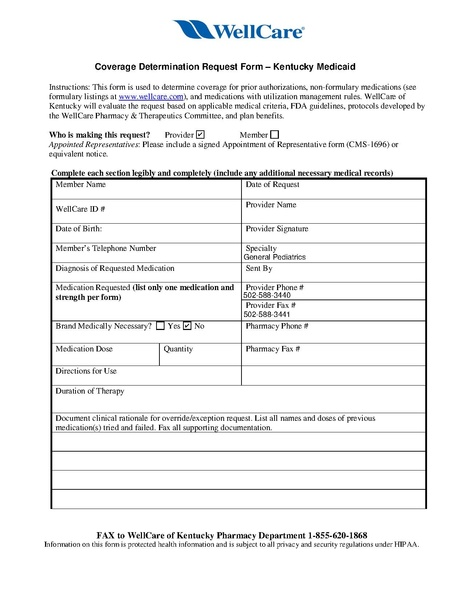 File Wellcare Pa Form Pdf Uofl General Peds